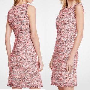 Ann Taylor | Tweed Fringe Sleeveless Dress